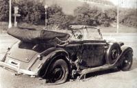 Heydrichovo auto bezprostředně po atentátu