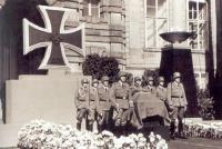 Heydrichova rakev na Pražském hradě